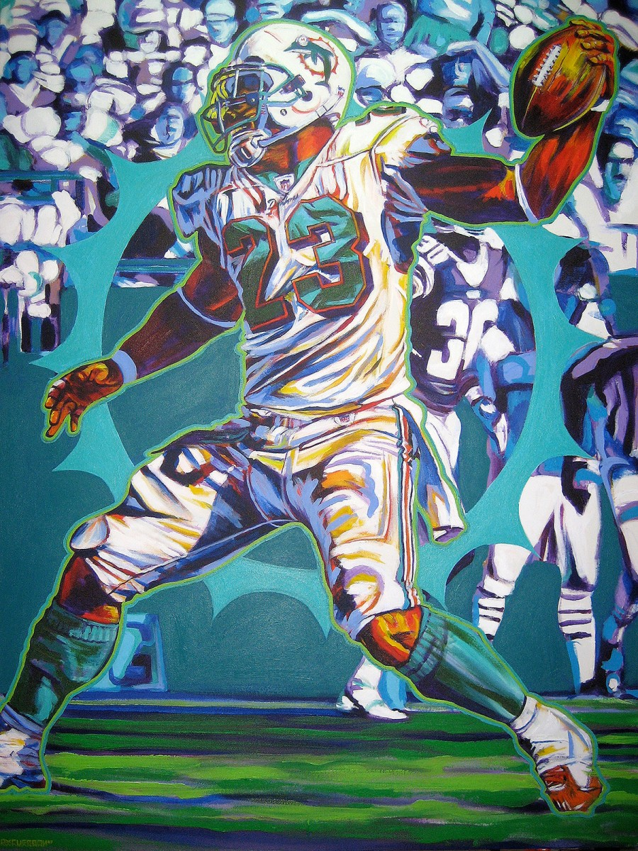Archives gallery commissioned by ronnie brown miami dolphins 2007 36x48 acrylic on canvas voltagebd Choice Image