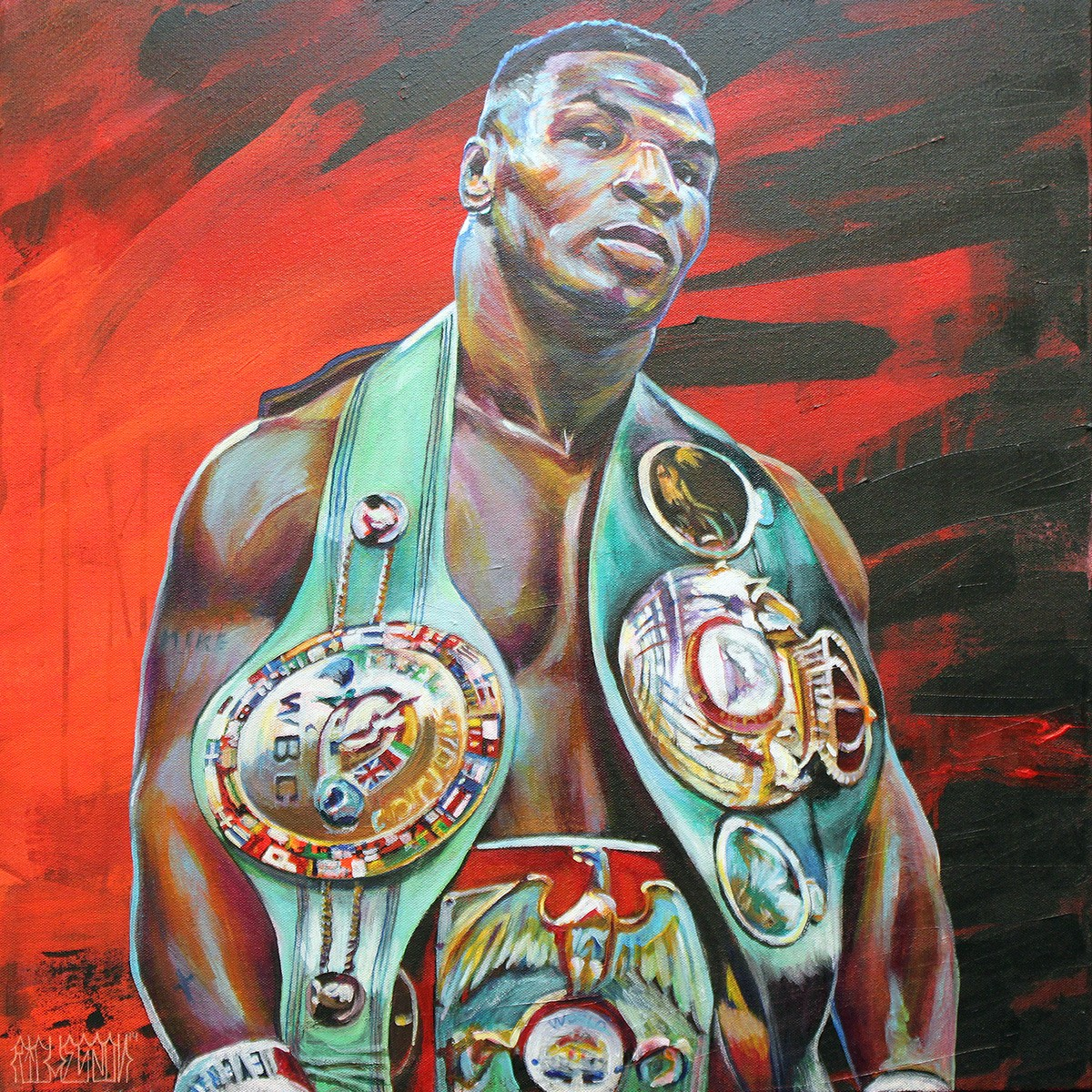 2012 02 01 archive moreover Index as well Desportes as well Famous Boxers moreover Hobrecht Sports Art Laguna Beach. on oscar de la hoya in paintings